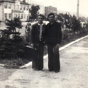 На фоне площади. 1984 год. Источник: Василия Григорицэ.