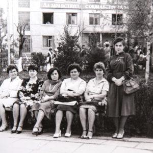 Первомайская демонстрация. 1980 г. Фото из архива Леонида Ходько.