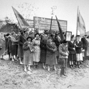 Коллектив больницы на демонстрации. Фото предоставил Сергей Балабан.