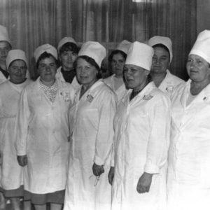 Коллектив тубдиспансера. Фото из семейного архива Анны Ашуровой.