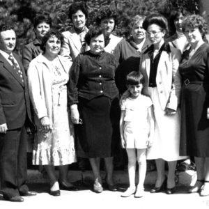 Echipa dispensarului de tuberculoză din Cimișlia. Май 1985 г. Фото из семейного архива Анны Ашуровой.