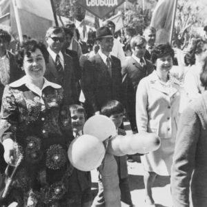 Майская демонстрация. 1976 г. Фото из архива Леонида Ходько.