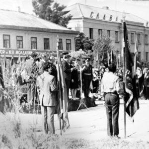 Митинг в честь тридцатилетия освобождения Молдовы. Август 1974 г. Фото из архива Леонида Ходько.