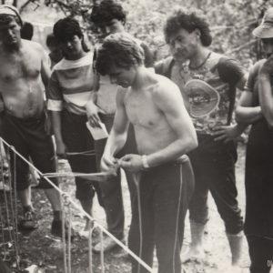 Спринтерская эстафета. Спортивная жизнь чимишлийцев в 80-е годы. Источник: Спортивная школа.
