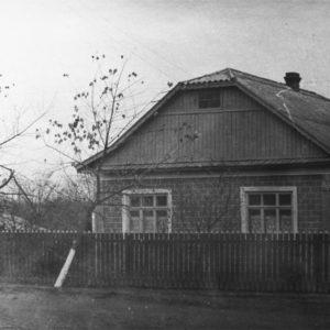 с. Гура Галбеней. Один из жилых домов села. 1966 г. Фото из архива Леонида Ходько.