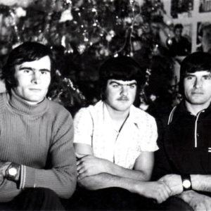 Тудор Кобзак, Максим Колца и Иван Кобзак. 1975 год. Источник: Иван Корнеску.