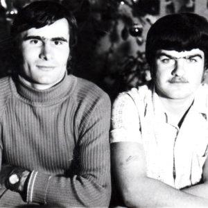 Тудор Кобзак и Максим Колца. Новый 1976 год. Источник: Иван Корнеску.