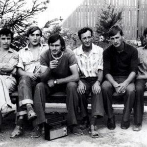 Монтажники-высотники ЛЭП на отдыхе. 1980 год. Источник: Иван Корнеску.