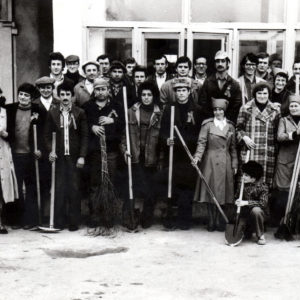 Коллектив СТО на субботнике. 1983 год. Источник: Иван Корнеску.