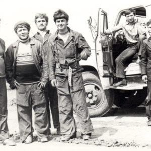 Монтажники ЛЭП. В центре Максим Колца. 1986 год. Источник: Иван Корнеску.