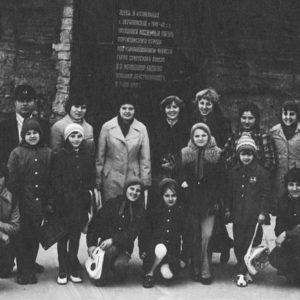 """Ансамбли """"Аллегро"""" и """"Ромашка"""". Школа искусств. 70-е. Источник: Иван Ганели."""