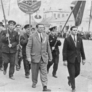 Работники связи во время демонстрации. Источник: Сергей Ершов.