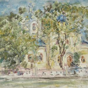 Чимишлийская церковь, 2008 год. Художник Дмитрий Пейчев.