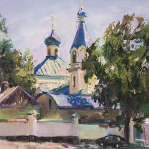 Чимишлийская церковь, 2012. Художник Ольга Бакицкая (Москва, Россия).