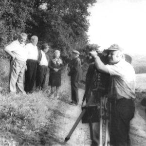На съемках фильма о селе Липовены.